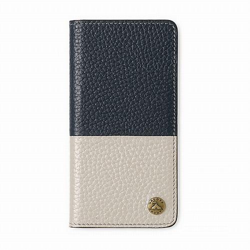 GNUOYP(ニュピ) iPhone6.7.8 case(Book bicolor) ネイビー/シャンパンゴールド