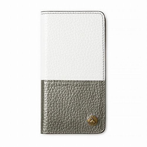 GNUOYP(ニュピ) iPhone6.7.8 case(Book bicolor) ホワイト/ガンメタ