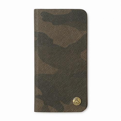 GNUOYP(ニュピ) iPhone X case (book) サフィアーノミリタリー